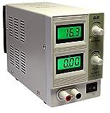 Komerci QJ1502C Regelbares DC Labornetzgerät Labornetzteil 0-15V 0-2A, stabilisiert, kurzschlussfest, grau
