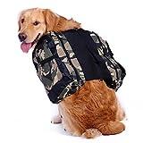 Mangostyle Hunde-Satteltasche Rucksack verstellbar Geschirr-Tasche für mittelgroße und große Hunde für Reise Wandern Camping Training (mit Wasserschüssel)