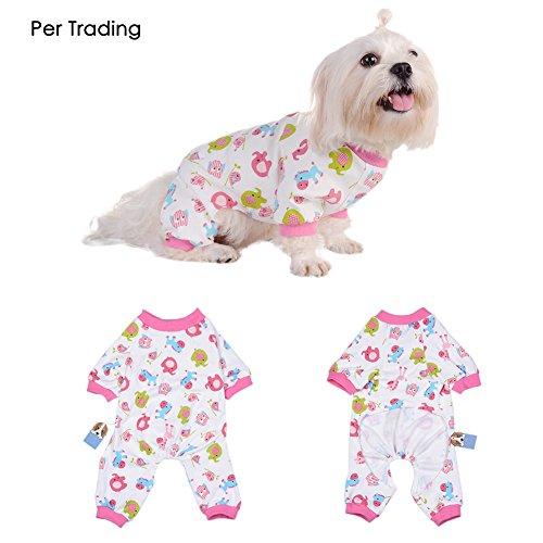 Per Hunde/Katze Pyjamas mit Niedlich Tierisches Muster und Four Feet Design, Weich Alle Jahreszeiten Haustier Schlafanzug Jacken für Kleine und Mittelgroße Hunde - Rosa,XS/S/M/L/XL (Tierische Ideen Für Kostüme)