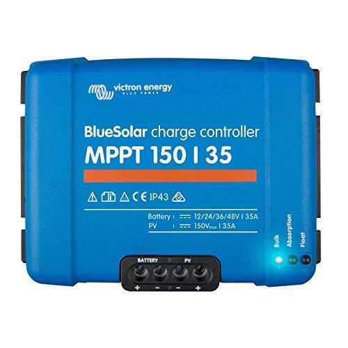 Victron BlueSolar MPPT 150/3535A Solar-Laderegler für Solarmodule bis zu 500W (12V)/1000W (24V)/1500W (36V)/2000W (48V) bis zu 150V