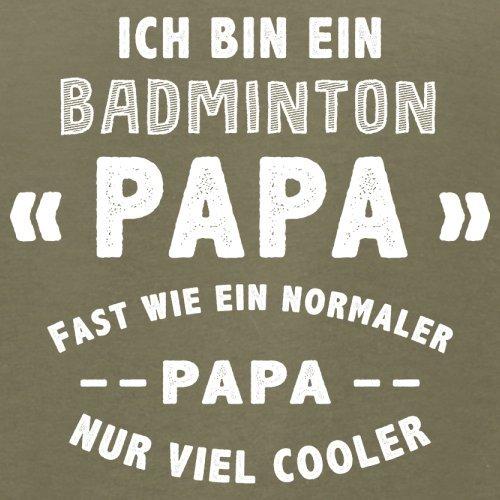 Ich bin ein Badminton Papa - Herren T-Shirt - 13 Farben Khaki