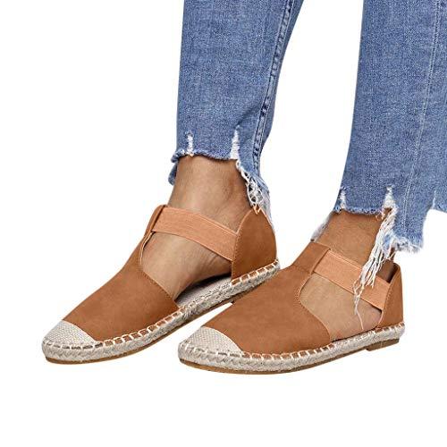 Sandalias para Mujer Verano 2019 Planas PAOLIAN Alpargatas Esparto Playa Casual Fiesta Zapatos Vestir...