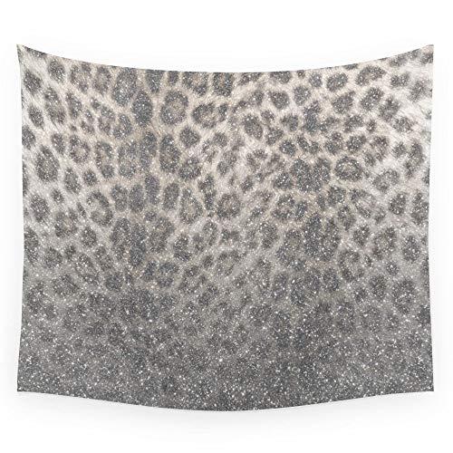 ZGQQQ Shimmer Snow Leopard Glitter Abstract Wall Tapestry Sandy Beach Picknick Throw Rug Blanket Camping Zelt Reisematress 150 * 200CM -