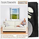 Fenster Fliegengitter von INSECT-X (zuschneidbar für alle Fenster bis 130x150 cm Größe) Fliegennetz Gitter zum Schutz vor Insekten wie Fliegen und Mücken | hochwertig - durchsichtig | Insektenschutz Fliegenschutz Mückenschutz Netz