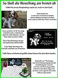 Grabstein Hund 44x29x3 cm – schwarzer Granit inklusive Foto & Text Gravur nach Ihren Wünschen – Tiergrabstein Grabstein für Tiere Gedenkstein Haustier Tiergrabplatte für Hunde mit Bild Motiv Grabplatte Gedenktafel - 3