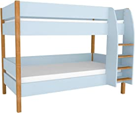 Etagenbett Für Kinder, Hochbett, Stockbett, Doppelstockbett 90x200 Inkl.  Lattenrost Und Absturzsicherung,