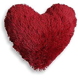 Cojín Corazón Marmota Rojo.
