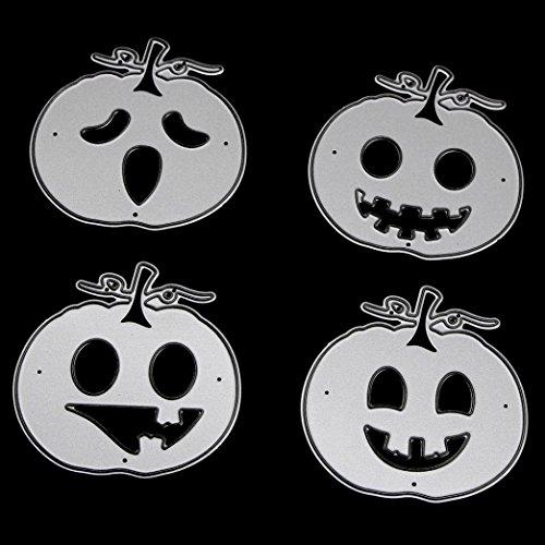 cinnamou Halloween Metall Schneiden stirbt Schablonen - DIY Scrapbooking Prägepapier Karten Album Tagebuch Schablone (Hausgemachte Für Dekorationen Einfache Halloween)