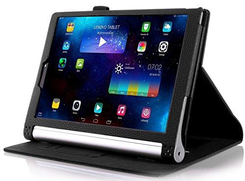 ELTD Lenovo YOGA Tablet 3-10 Hülle case- Leder Tasche Schutzhülle mit Standfunktion / Auto Sleep Für Lenovo YOGA Tablet 3-10 (10,1 Zoll), Schwarz