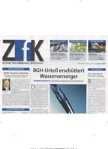ZfK - Zeitung für kommunale Wirtschaft [Jahresabo]