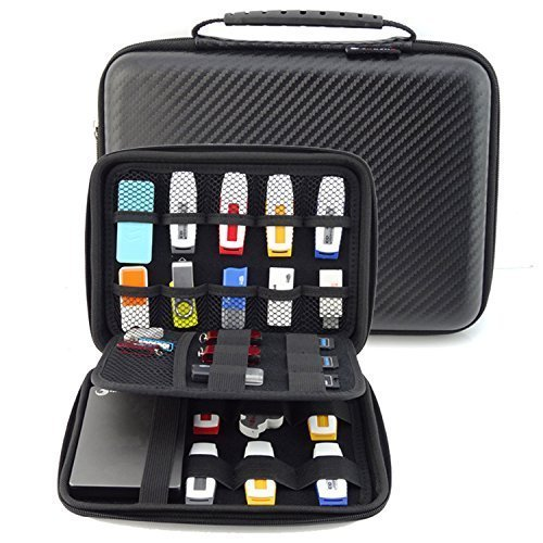 homeself Organizador de carcasa rígida de accesorios de electrónica–Funda impermeable para Power Bank/USB/Disco duro