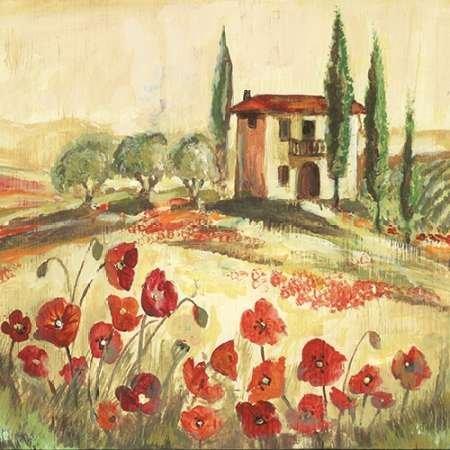 Poppy Field I Von Gorham, Gregory Kunstdruck auf Leinwand - Klein (41 x 41 cms )