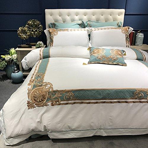 Vier Satz von bettbezug Verdicken Sie Gestickt Sechs-stück-Set Herbst-Winter Bett Produkte 1 Warme.8 2.0m vierteilige Set-A 220x240cm(87x94inch) (8 Stück-bett-satz)