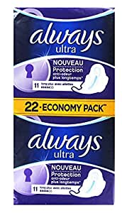 Always Ultra Long Plus 22 Economy Pack 22 Serviettes