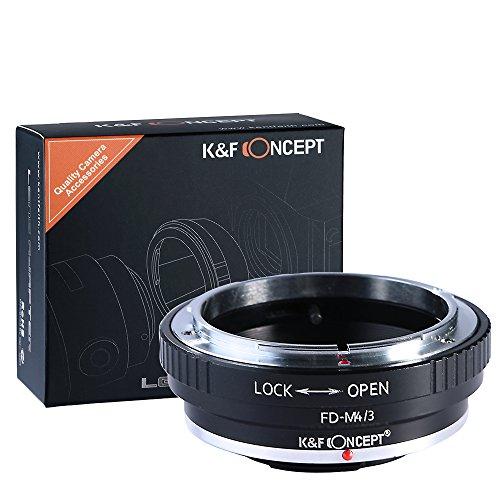 K&F Concept Canon FD Objektivadapter Micro Four Thirds m4/3 MFT Panasonic LUMIX DMC-GH1 GH2 GH3 GX7 G1 GF1 GX1 Olympus PEN E-P1 P2 P3 P5 PL1s PL2 PM OM-D E-M1 Mark II E-M5 Kamera Bajonett Adapter-ring