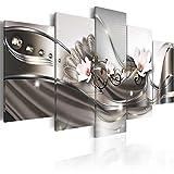 murando - Bilder 100x50 cm - Vlies Leinwandbild - 5 Teilig - Kunstdruck - modern - Wandbilder XXL - Wanddekoration - Design - Wand Bild - Blumen Orchidee Abstrakt b-A-0073-b-p