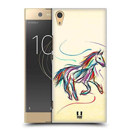 Head Case Designs Pferd Farbige Tiere Doodle Ruckseite Hülle für Sony Xperia XA1 Ultra / Dual