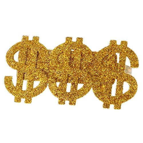 Gazechimp Set 3 Ringe mit Dollar-Zeichen (Big Dollar Daddy Kostüm)