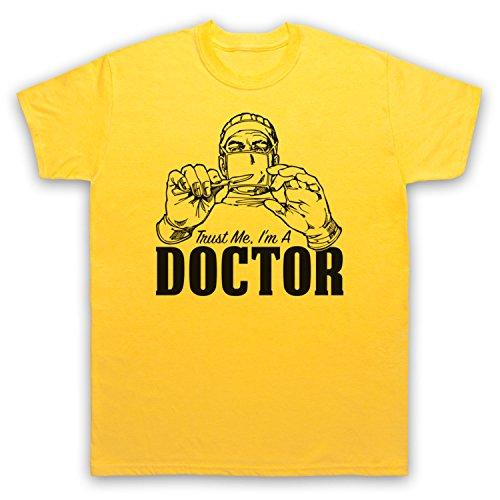 Trust Me I'm A Doctor Funny Work Slogan Herren T-Shirt Gelb