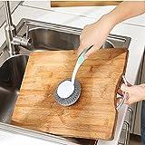 Generic Pink: Küche Reinigungsbürsten Lange Griff Edelstahl Pfanne Magic Metall Rost Entferner Topfreiniger Waschen Gerichte Pinselreiniger Topf