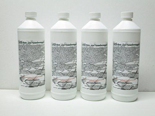 A.K.B. Stein- und Fassadenreiniger S 1774 Vollkonzentrat, (4 Liter), effektiver Dachreiniger !, idealer Flechtenentferner, Pilzentferner, Moosentferner, Grünbelagentferner, BauA Nr. N-69211