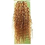Dream Hair Clip-In Extensions Set Deep Wave 8 Stück Braun-Blond-Rot Halb-Gesträhnt Echthaar