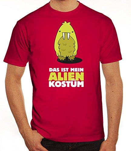 Fasching Karneval Herren T-Shirt mit Das ist mein Alien Kostüm 8 Motiv von ShirtStreet Sorbet