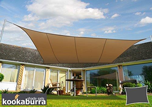 Voile d'Ombrage Mocha Rectangle 4x3m - Imperméable - 160g/m2 - Kookaburra