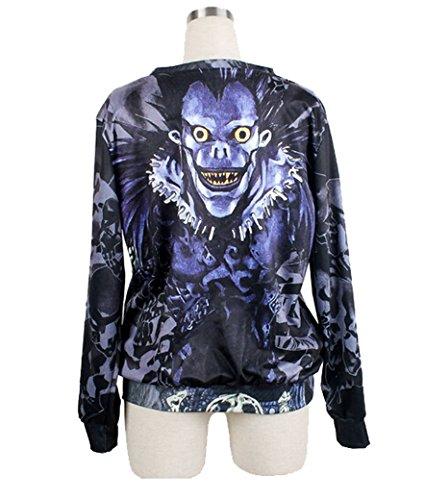 Tangda-Sweatshirt Femme Homme Unisex Halloween Décontracté éclair Imprimé Galaxy étoile Sweatjacke Pull-over Jacke Hoodies Manches Longue Fantaisiste Polyester Death note