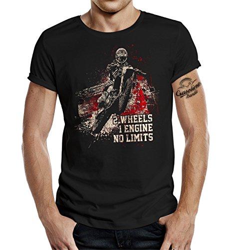 GASOLINE BANDIT® Original Biker T-Shirt: No Limits Schwarz