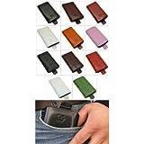 Samsung S7350 Ultra Slide - Leder Etui Tasche **Original SunCase** In der Farbe Schwarz
