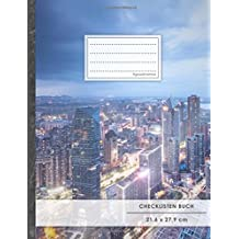 """Checklisten-Buch: DIN A4 • 70+ Seiten, Softcover, Register, """"Big City"""" • #GoodMemos • 18 Checkboxen + Platz für Notizen/Seite (inkl. Register mit Datum uvm.)"""