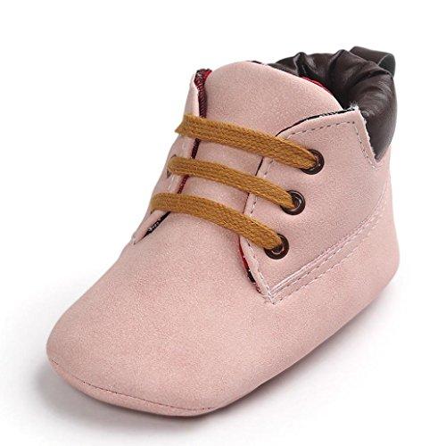 Schuhe Baby Xinan Weiche Sohle Leder Kleinkind Mädchen Shoes (0-6 Monate, Rosa) (Schuhe Kleine Baby)