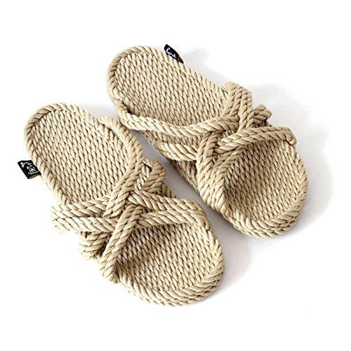 Nomadics Slip On Unisex-Erwachsene Sandale aus Seil Camel, 42 -