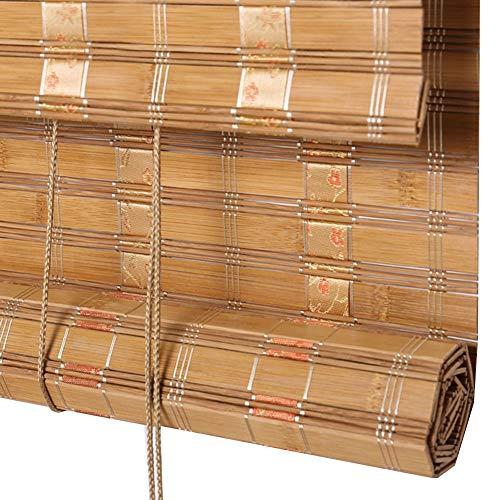 WY Bambusvorhang zweischalig Beschattungsrollo Weit Bambus Shade Tea House Verschiedene Größen können angepasst Werden (Color : A, Size : 130X250CM)