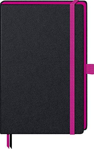 Brunnen 105572826 Notizbuch Kompagnon Trend (Hardcover, 12,5 x 19,5 cm, kariert, 192 Seiten) 1 Stück pink