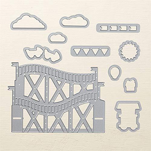 AJDMART Achterbahn Rahmen Metall Stanzformen Schablone für DIY Scrapbooking Fotoalbum Papier Karte Dekorative Handwerk Gestanzt (Metall-achterbahn)