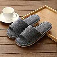 Men'S Home Slippers Solid Color Summer Home Indoor Slippers For Men And Women