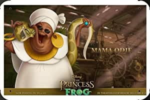 Princess And The Frog Mama Odie Metal Poster enseigne marque 40x60cm
