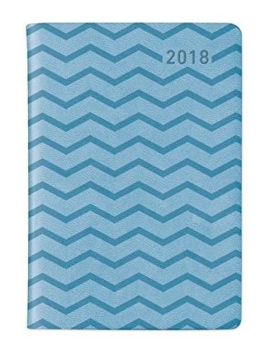 Ladytimer Mini Deluxe Sky 2018 - Taschenplaner / Taschenkalender (8 x 11,5) - Tucson Einband - Motivprägung Muster - Weekly - 144 Seiten