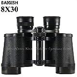 HITSAN INCORPORATION Baigish 20X50 Big Eyepiece Wide Angle Zoom LLL Night Vision Binoculars Outdoor Professional Military Travel Binocular Color 8X30