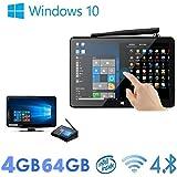 "Wangang Pipo X9S 4G/64G Mini PC TV Box Windows 10 MINI PC Media Player Device Intel Cherry trail Z8300 Quad Core WIFI Bluetooth Ethernet HDMI Player 8.9"" Windows Tablet"