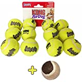 12x Kong AirDog Tennis Balls, X-Small   1 Coloured Tennis Ball
