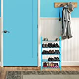 #5: Story@Home Shoe Rack Stand Organizer for home, 5 Shelves, Foldable, Metal and Plastic - Blue