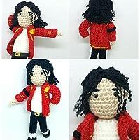 Muñeco Michael Jackson hecho a mano y de lana. El rey del pop .