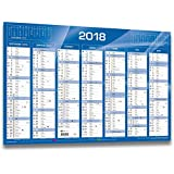 QUO VADIS - 1 Calendrier de Banque Bleu - Année 2018 - 55x40.5 cm carton rigide