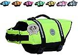 Vivaglory Hundeschwimmweste Doggy Float Coat Wassersport Schwimmhilfe Rettungsweste für Hunde Haustier Mit Griff und Reflektoren