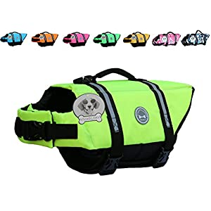 Vivaglory Dog Life Jacket Size Adjustable Dog Lifesaver Safety Reflective Vest Pet Life Preserver 10