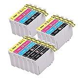 PerfectPrint Kompatibel Tinte Patrone Ersetzen für Epson Stylus SX-230 235W 420W 425W 435W 440 445W 525WD 535WD 620FW Stylus Office B42WD BX-305F 305FW T1295 (Schwarz/Cyan/Magenta/Gelb, 14-pack)