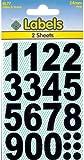 Vinyl Numbers Black Stickers 24mm